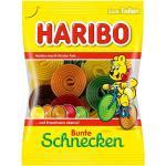 Haribo Bunte Schnecken 175g Fruchtgummi, Frucht u. Cola Geschmack (0,70 € pro 100 g)