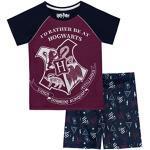 Harry Potter Mädchen Hogwarts Schlafanzug Blau 134