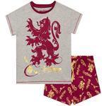 Rote Harry Potter Gryffindor Kinderschlafanzüge & Kinderpyjamas mit Löwen-Motiv für Mädchen