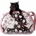 Hartschalen Tiertransporttasche Pink Love transparent rosa