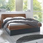 Hasena Holzbett Top-Line Prestige 18 Gabo Practico-Box Walnuss 140x220