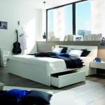 HASENA Massivholzbett Spazio 160 x 200 cm Holz Weiß