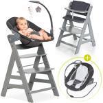 Hauck Alpha Plus Grau Newborn Set Deluxe - 4-tlg. Hochstuhl + 2in1 Neugeboreneneinsatz (verstellbar) + Sitzpolster + 4,80€ Cashback auf Deine nächste Bestellung