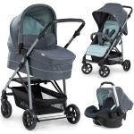 Hauck Kinderwagen-Set Rapid 4 Plus Trio Set mit Babywanne, Autositz und Sportwagen (bis 25 kg) - Grey Mint inkl. Gratis Mobilitätsgarantie + 6,60€ Cashback auf Deine nächste Bestellung