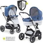 Hauck Kombi-kinderwagen Mars Duoset inkl. Sportwagen & Babywanne für Neugeborene - Denim Silver inkl. Gratis Mobilitätsgarantie + 10,50€ Cashback auf Deine nächste Bestellung
