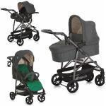 Hauck Kombi-Kinderwagen Rapid 4S Plus Trio Set Caviar Emerald, mit Babyschale; Kinderwagen grau Kinder Kombikinderwagen Buggies