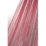 Haus und Deko Fadenvorhang Fadengardine mit Lurex veredelt Metallic Effekt Gardine Vorhang weinrot 90x250 cm