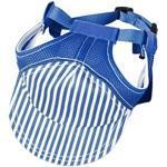 Haustiere Hut Hunde Hut Baseball Mütze mit Ohr Löcher für Kleine Hunde DREI Farbwahl - Blau L
