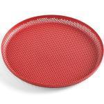 HAY - Perforiertes Tablett - rot, Metall - 26x2x26 cm - red (506694) M