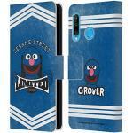 Head Case Designs Offiziell Zugelassen Sesame Street Grover Vintage Nostalgia Leder Brieftaschen Handyhülle Hülle Huelle kompatibel mit Huawei P30 Lite / Nova 4e