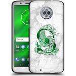 Head Case Designs Offizielle Harry Potter Slytherin Aguamenti Deathly Hallows IX Schwarze Soft Gel Handyhülle Hülle Huelle kompatibel mit Motorola Moto G6