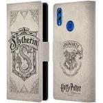 Head Case Designs Offizielle Harry Potter Slytherin Pergament Sorcerer's Stone I Leder Brieftaschen Handyhülle Hülle Huelle kompatibel mit Huawei Honor 10 Lite