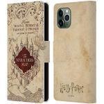 Head Case Designs Offizielle Harry Potter The Marauder's Map Prisoner of Azkaban II Leder Brieftaschen Handyhülle Hülle Huelle kompatibel mit Apple iPhone 11 Pro