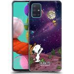 Head Case Designs Offizielle Peanuts Nebelfleck-Ballon Woodstock Snoopy Raumcowboy Soft Gel Handyhülle Hülle Huelle kompatibel mit Samsung Galaxy A51 (2019)