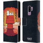 Head Case Designs Offizielle Peanuts Snoopy Spooktacular Leder Brieftaschen Handyhülle Hülle Huelle kompatibel mit Samsung Galaxy S9+ / S9 Plus