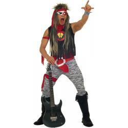 Heavy Rockstar Kostüm - schwarz