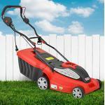 HECHT Rasenmäher Elektro Elektro Mäher mit 1.600 Watt Turbo Motor - 38 cm Schnittbreite, zentrale 5-Fach Schnitthöheneinstellung, 45 Liter Fangkorb für einen schön Rasen, Elektro-rasenmäher