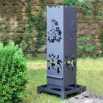 HEIBI Feuersäule Kirschblüte metallgrau