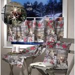 heimtexland Kissenhülle mit LED Beleuchtung flackernd 40x40 cm Weihnachtskissen Fotodruck Patchwork Weihnachten Kissen Velour ÖKOTEX Typ498