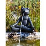 Heissner Teich-Deko Teichfigur Yoga-Frosch 23 cm hoch
