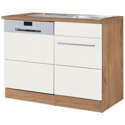 HELD MÖBEL Spülenschrank Wien, Breite 110 cm, inkl. Möbelfront für teilintegrierbaren Geschirrspüler weiß Spülenschränke Küchenschränke Küchenmöbel