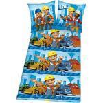 Herding Flanell Kinderbettwäsche Bob der Baumeister 135x200 cm Flanell