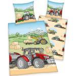 Herding Young Collection Traktor Bettwäsche, 100% Baumwolle, 135x200cm + 80x80cm