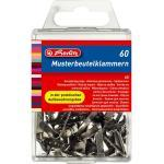 Herlitz Musterbeutelklammer Metall weißblank Flachkopf 60er Box
