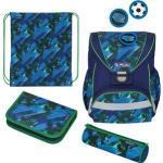 Herlitz Schulranzen UltraLight Plus Splash, 50026845, für Jungen, blau/grün, 4-teiliges Set