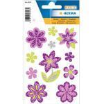 Herma 6293 MAGIC Sticker - Blumen - glitzernd - 11 Sticker