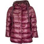 Braune Oversize Herno Winterjacken mit Reißverschluss mit Kapuze für Damen