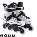 Herren Damen Inliner Inlineskates   82A Rollen   ABEC9 Chrome Kugellager   Unisex Fitness Skates für Erwachsene (White, 44)