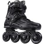 Herren Damen Inliner Inlineskates   ABEC7 Chrome Kugellager   Halterung aus Aluminiumlegierung   Unisex Fitness Skates für Erwachsene   35-47 Schuhgröße   Schwarz   Weiß,Schwarz,46