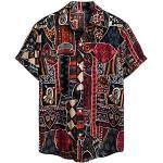 Herren Hemd Hawaiihemd Kurzarm Urlaub Freizeit Reise Shirt Strand Blumen BeiläUfige Hemden Aloha für Party Feiertag S, M Lila (surf Board, Oktoberfest Hemden Herren)