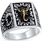 Silberne Bling Jewelry Sternzeichen-Ringe mit Sternzeichen-Motiv handgemacht zum Vatertag für Herren