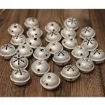 HERZWILD 30pcs christbaumschuck Glöckchen Metallglöckchen Schellen Glocken Weihnachten anhänger (Silber)