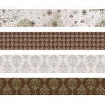 Heyda 204875524 Faltstreifen-Set für Fröbelsterne 1 x 30 cm & 1, 5 x 45 cm, 4 Motive Sortiert in zwei verschiedenen Größen