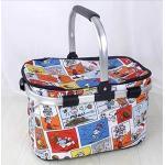 HHIAK666 Karikatur Faltender Picknickkorb Im Freien, Einkaufskorb, Eisbeutel-Aufbewahrungstasche, Isolationsbeutel 40 25 23Cm Gitter Snoopy(NAUXIU)