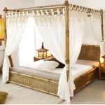 Himmelbett 160x200 Tioman aus Bambus Holzbett Designerbett Doppelbett Bettrahmen