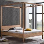 Moderne Allnatura Himmelbetten geölt aus Massivholz 160x200