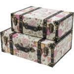 HMF Aufbewahrungsbox »Vintage Koffer« (2 Stück, versch. Größen), aus Holz, Deko Barock, bunt, 2er Set - Barock