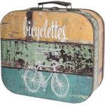 HMF Aufbewahrungsbox »Vintage Koffer«, aus Holz, Deko Fahrrad, 25 x 21,5 x 8,5 cm, 25 cm