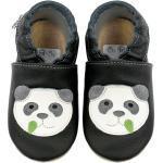 HOBEA-Germany »Kitaschuhe Safestep, Kinderhausschuhe in verschiedenen Farben« Lauflernschuh, schwarz, Panda schwarz
