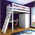 Hochbett Stockholm 2-L2, Kiefer/Buche, 120x200cm, versch. Höhen & Farben