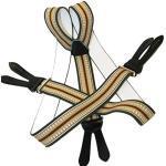 Hochwertige Hosenträger mit Lederriemen zum Knöpfen in Y Form für Damen und Herren - 35mm Breit - verschiedene UNI Farben - ÖSTERREICH - VIENNA (Braun)