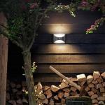Hochwertige LED Außenwandleuchte Herb aus Edelstahl mit Bewegungsmelder