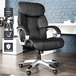 Höhenverstellbarer Chefsessel STRONG XXL Schwarz Bürostuhl bis 150 KG Drehstuhl