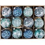 Hoff-Interieur Vintage Glaskugeln sortiert blau 10 cm (1 Stück)