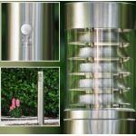 hofstein Außen-Stehlampe »»Tempio« Außenleuchte mit Bewegungsmelder, moderne aus Edelstahl und Kunststoff-Scheiben, Wegeleuchte 80 cm, Gartenlampe mit E27-Fassung