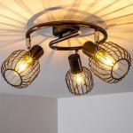hofstein Deckenstrahler »»Breme« verstellbare Deckenlampe aus Metall in Braun, 3-flammig, Lampenschirm dreh- u. schwenkbar, 3 x E14-Fassung, max. 40 Watt